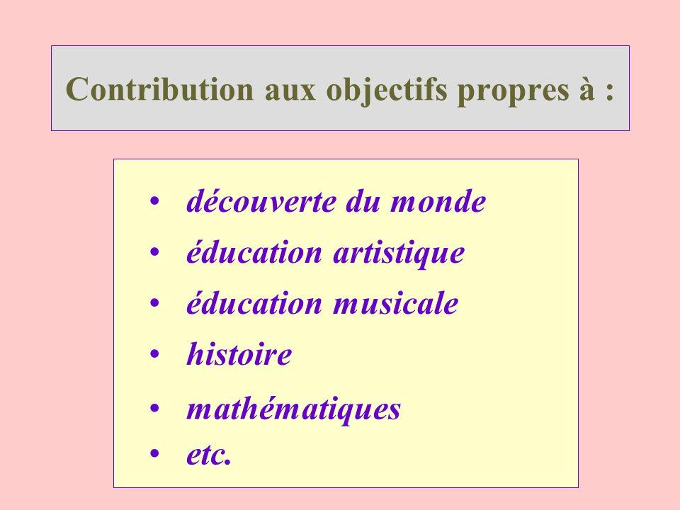 Contribution aux objectifs propres à :
