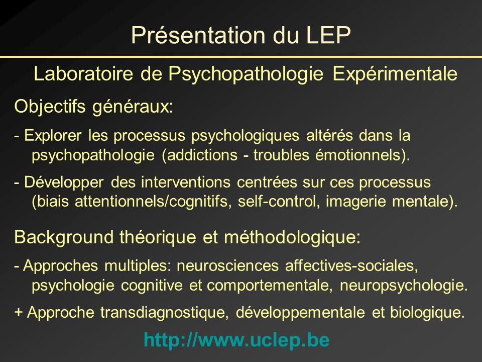 Laboratoire de Psychopathologie Expérimentale