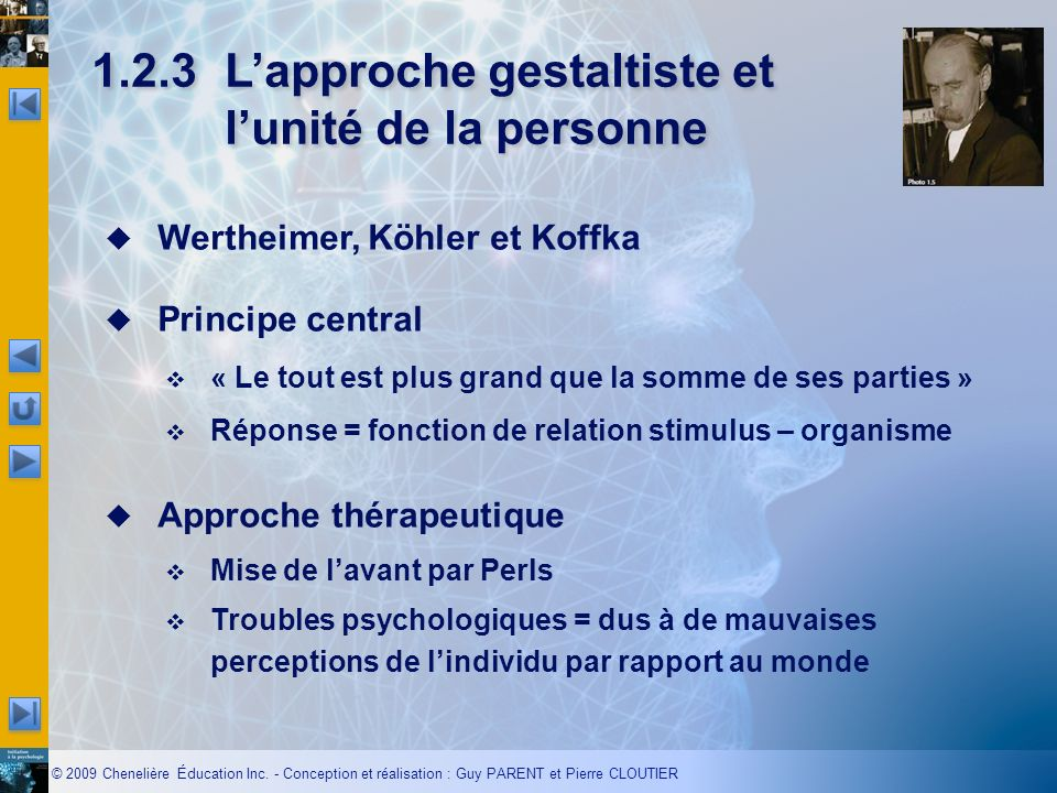 1.2.3 L'approche gestaltiste et l'unité de la personne