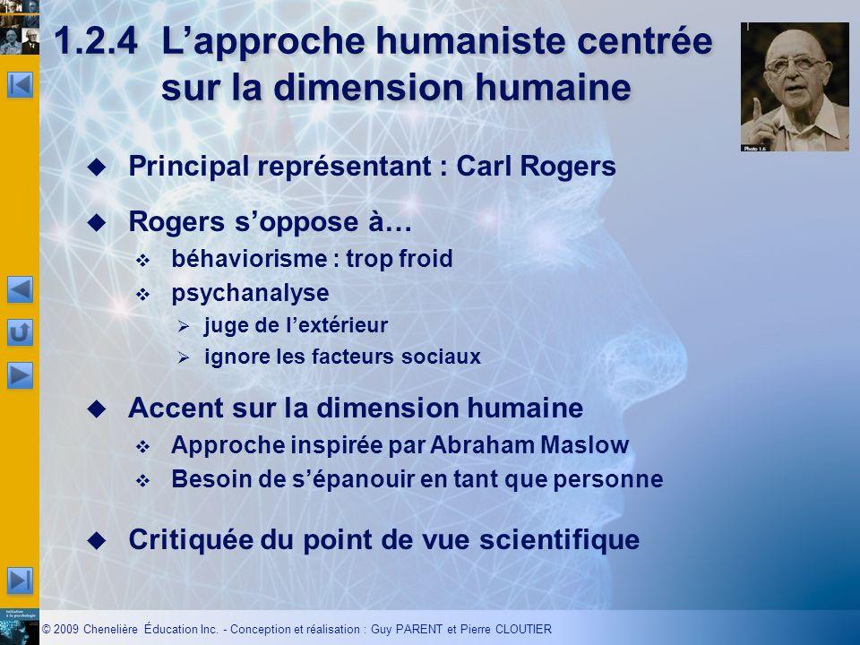1.2.4 L'approche humaniste centrée sur la dimension humaine