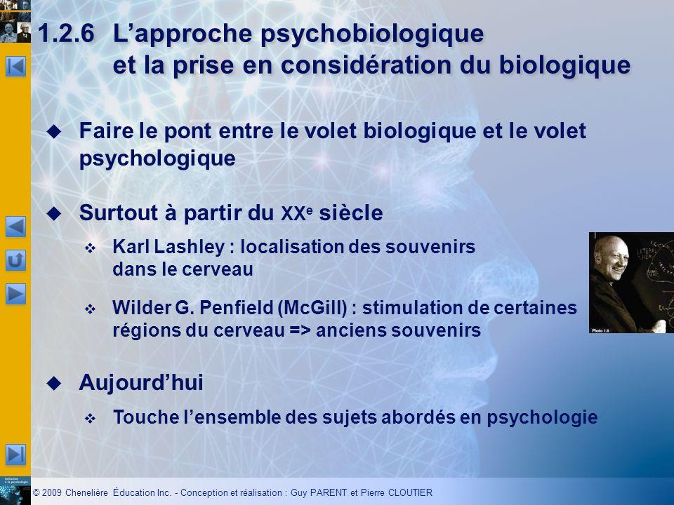 1.2.6 L'approche psychobiologique et la prise en considération du biologique