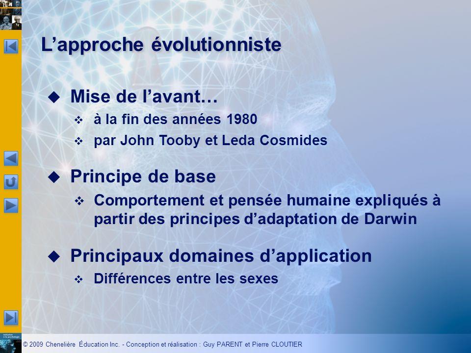 L'approche évolutionniste