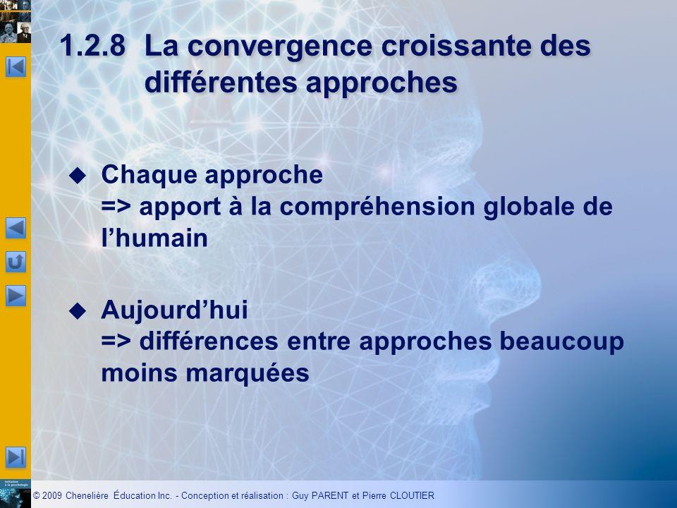 1.2.8 La convergence croissante des différentes approches