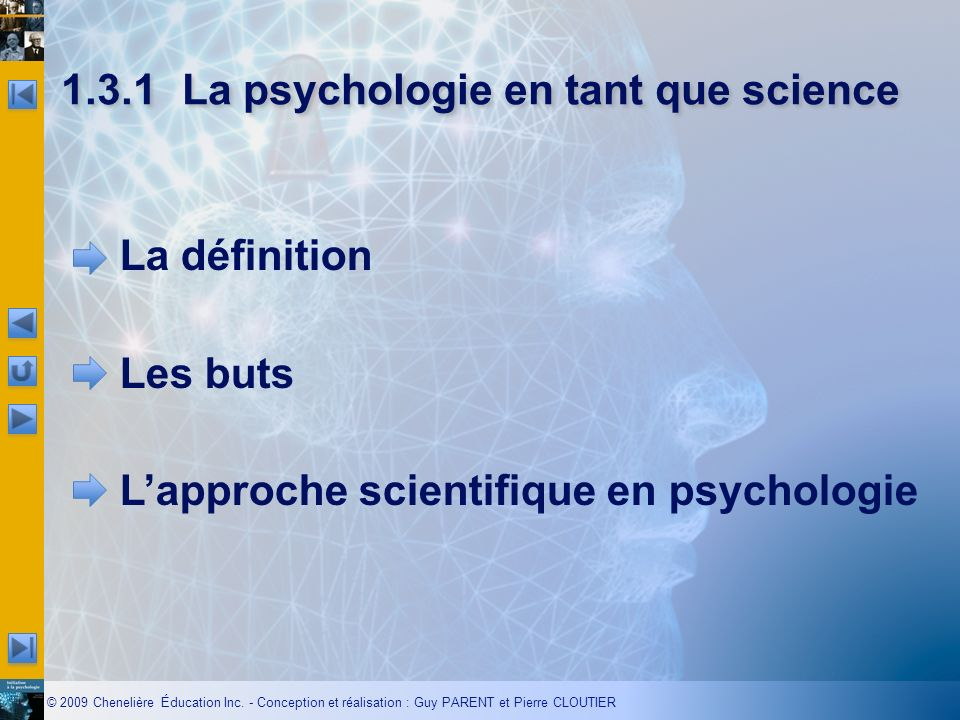 1.3.1 La psychologie en tant que science