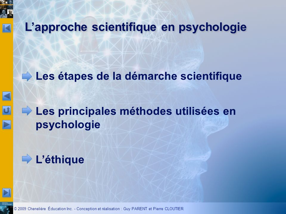 L'approche scientifique en psychologie
