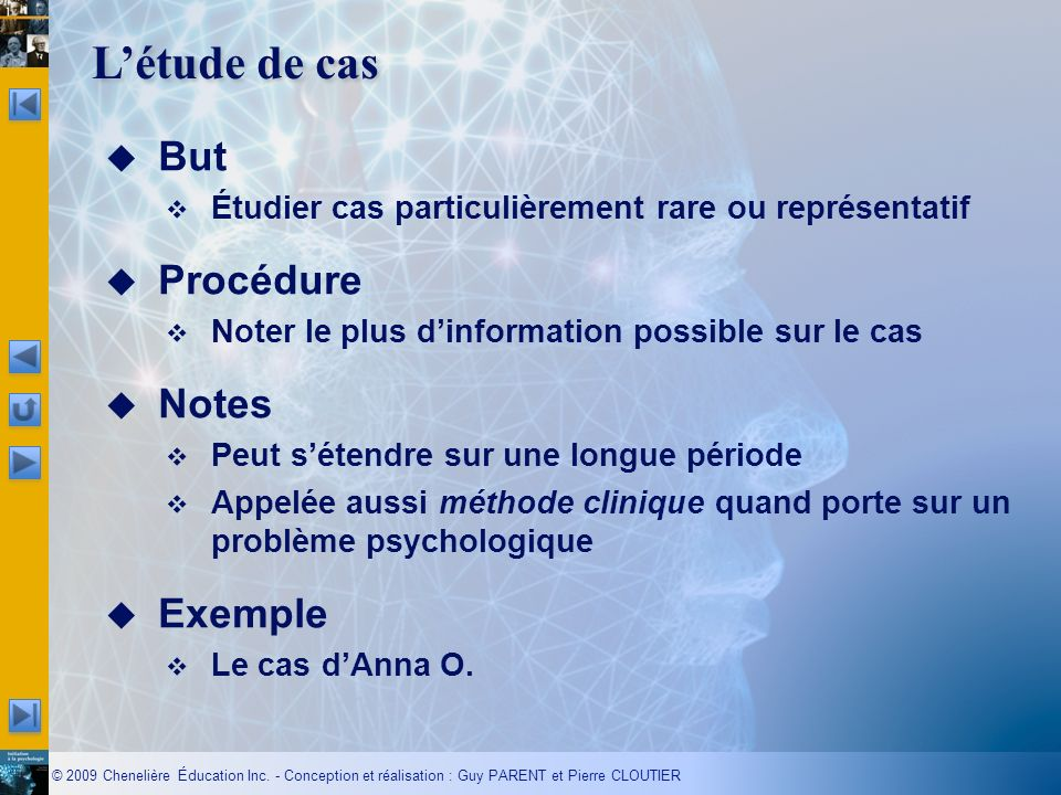 L'étude de cas But Procédure Notes Exemple