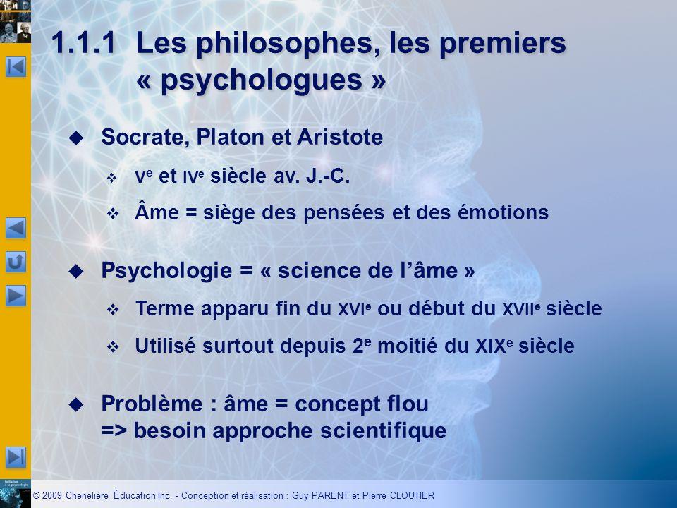 1.1.1 Les philosophes, les premiers « psychologues »