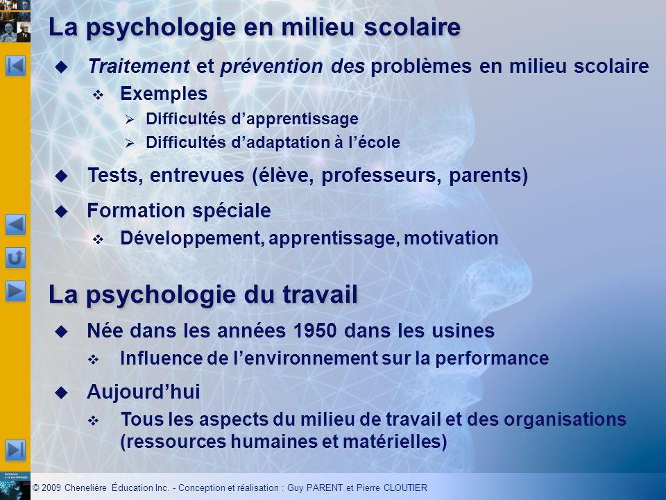 La psychologie en milieu scolaire