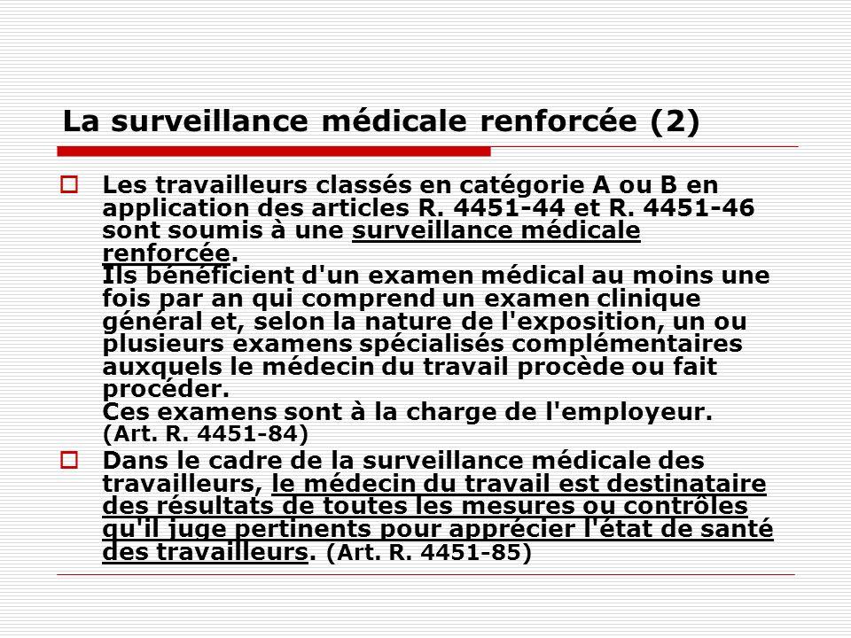 La surveillance médicale renforcée (2)