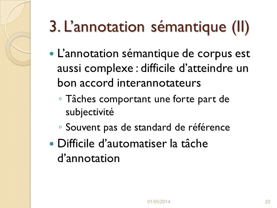 3. L'annotation sémantique (II)