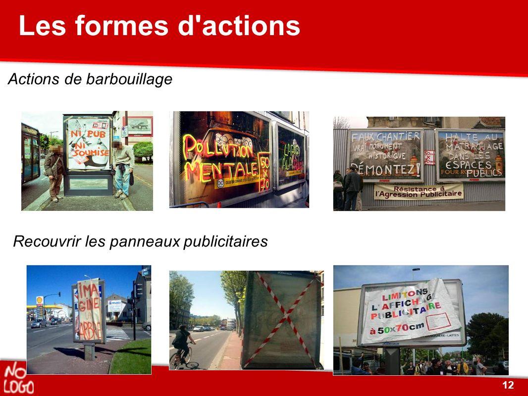 Les formes d actions Recouvrir les panneaux publicitaires