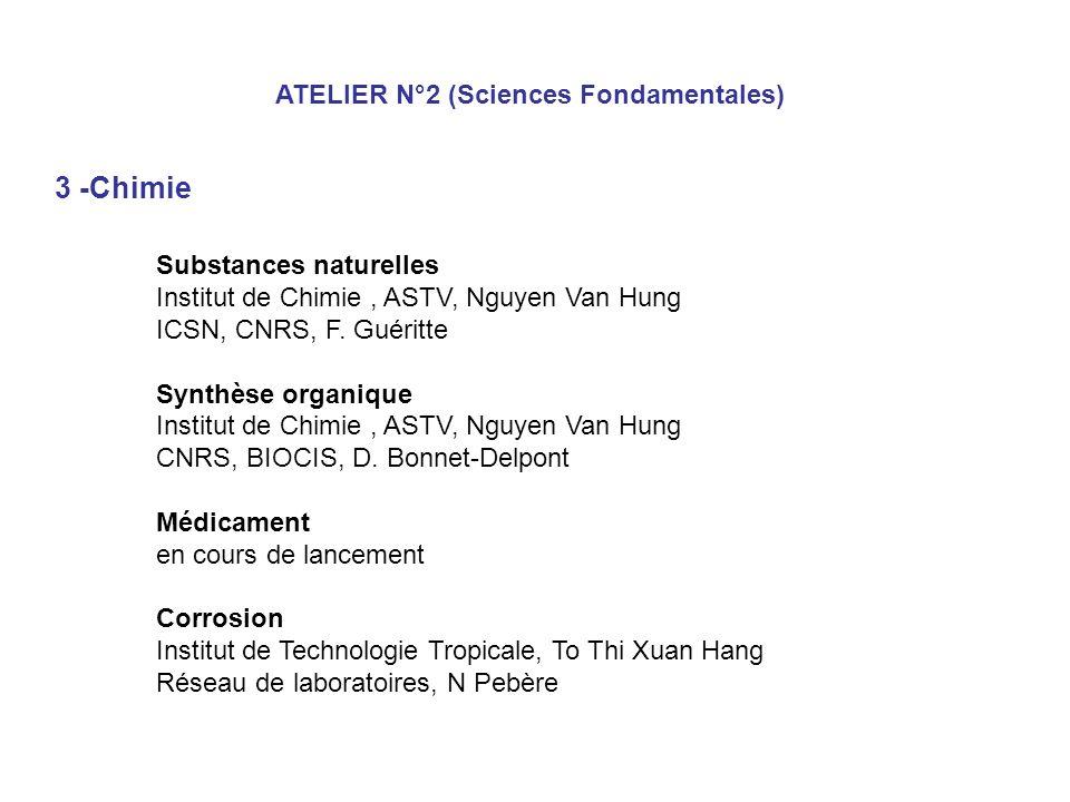 3 -Chimie ATELIER N°2 (Sciences Fondamentales) Substances naturelles