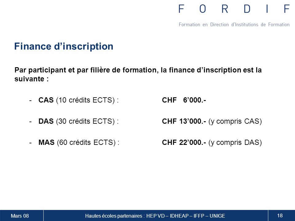 Finance d'inscription