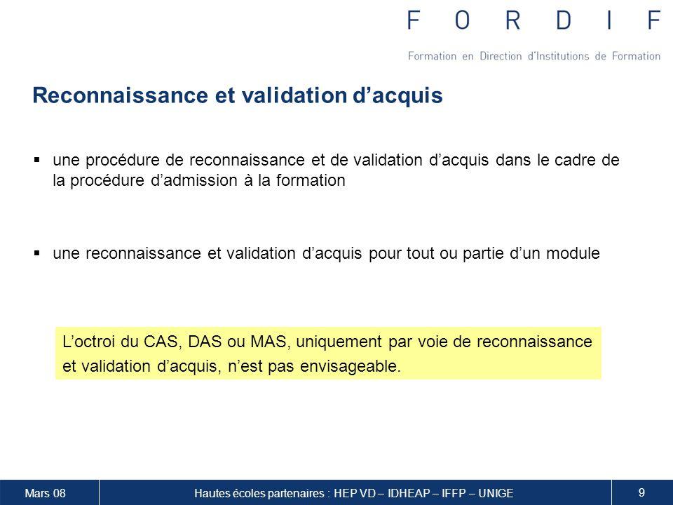 Reconnaissance et validation d'acquis
