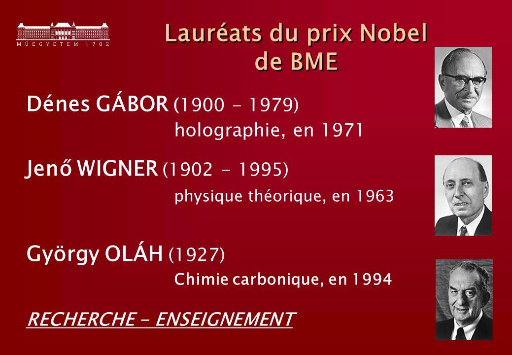 Lauréats du prix Nobel de BME