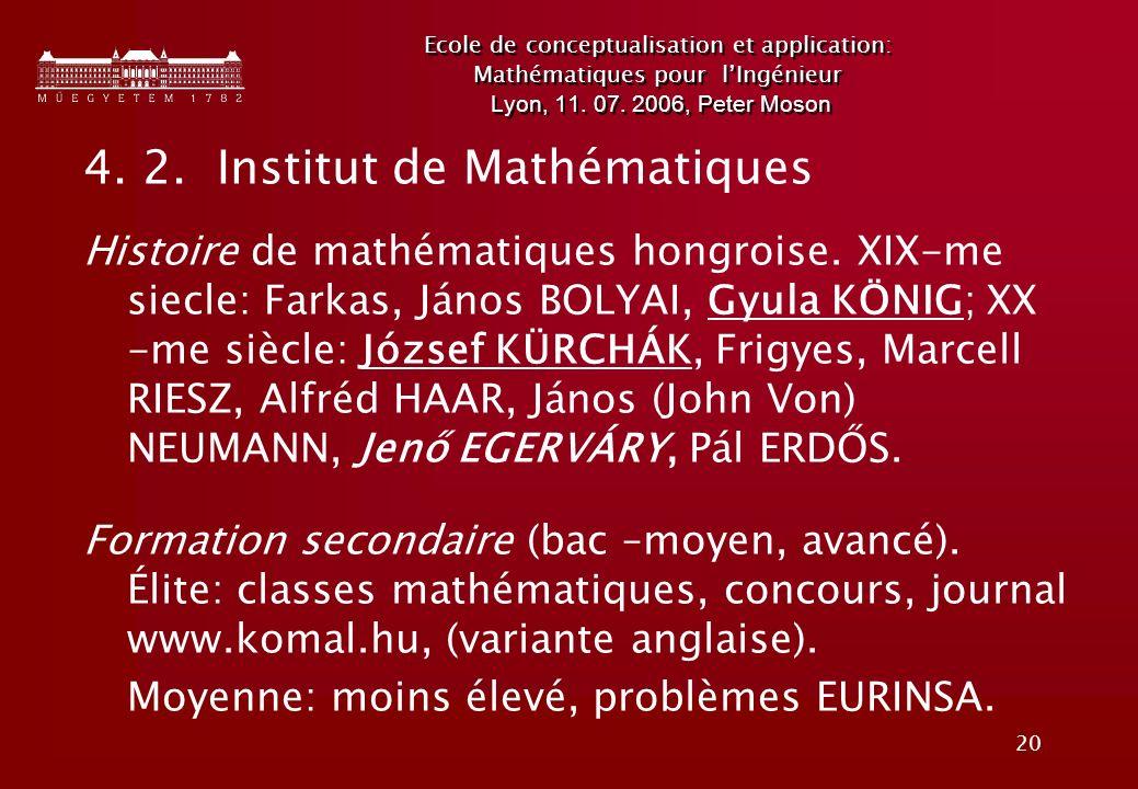 4. 2. Institut de Mathématiques