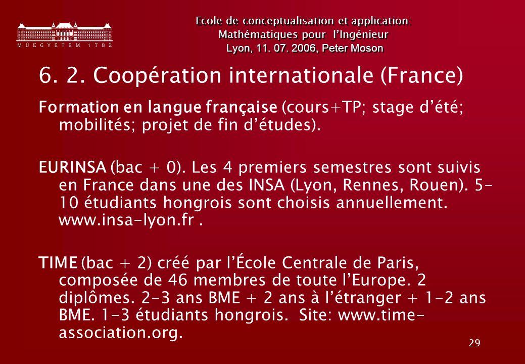 6. 2. Coopération internationale (France)