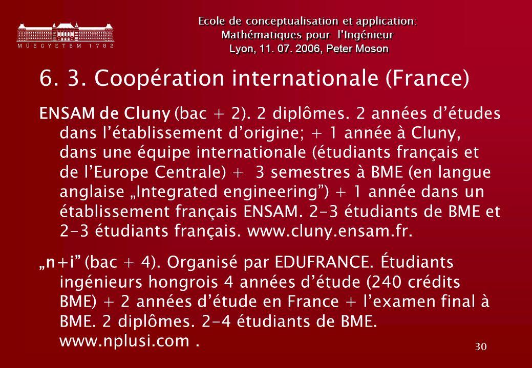 6. 3. Coopération internationale (France)