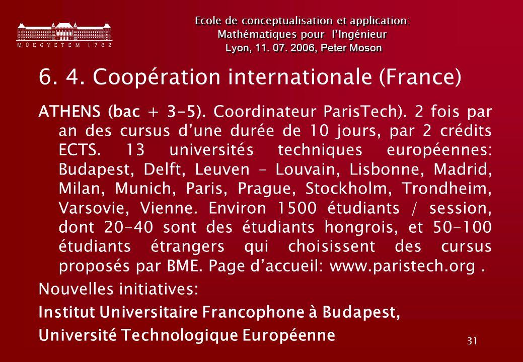 6. 4. Coopération internationale (France)