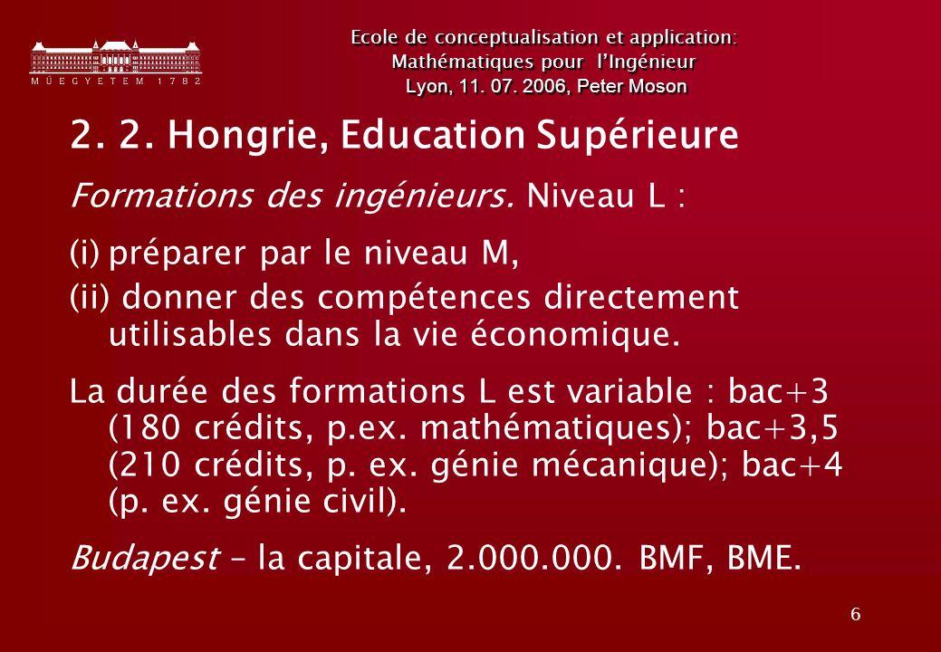 2. 2. Hongrie, Education Supérieure