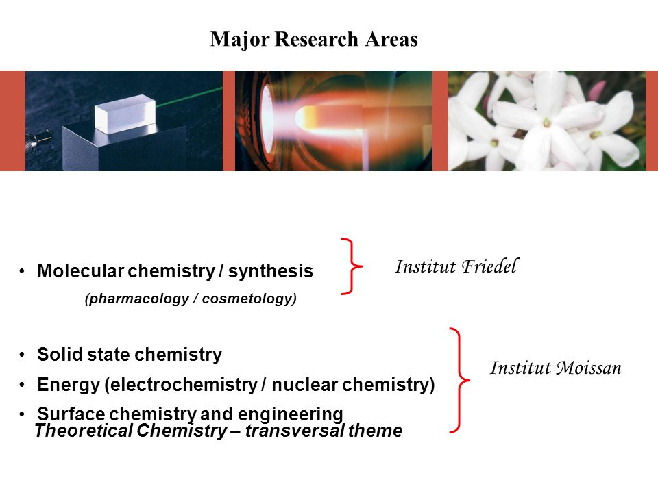 Major Research Areas Institut Friedel Institut Moissan