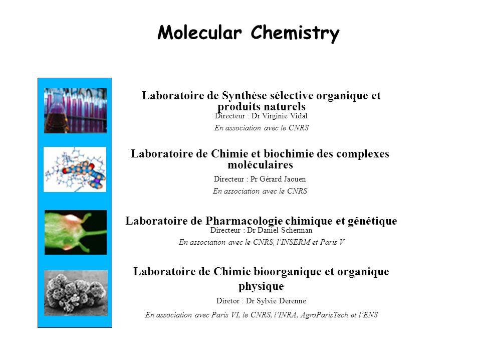 Molecular Chemistry Laboratoire de Synthèse sélective organique et produits naturels Directeur : Dr Virginie Vidal.