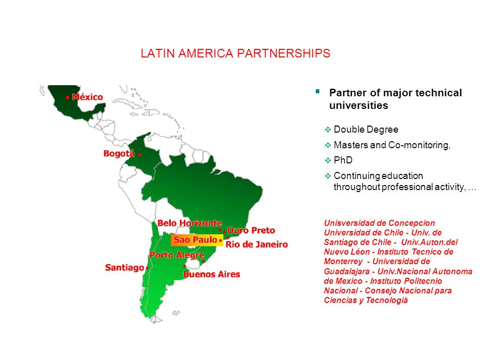 LATIN AMERICA PARTNERSHIPS