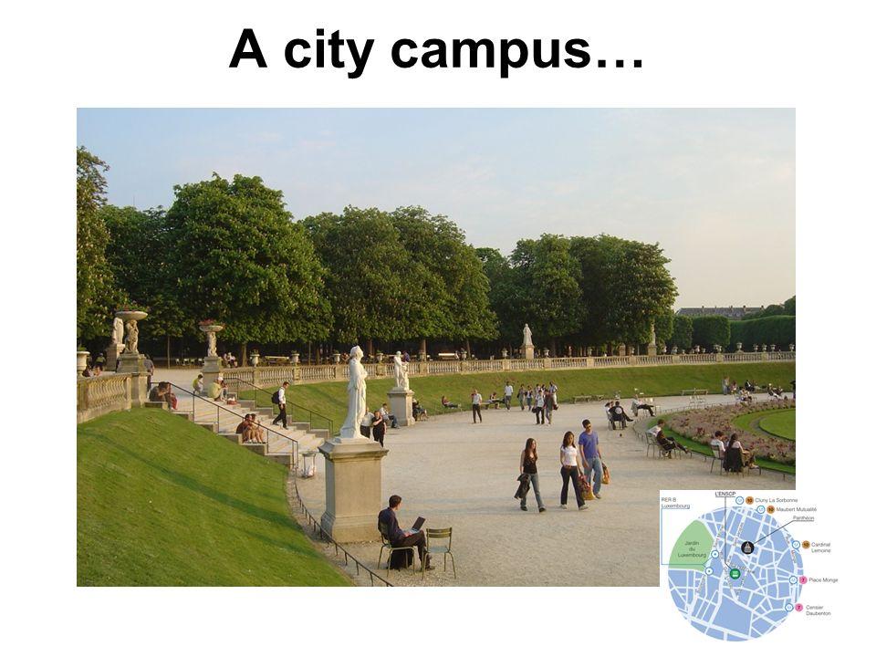 A city campus…