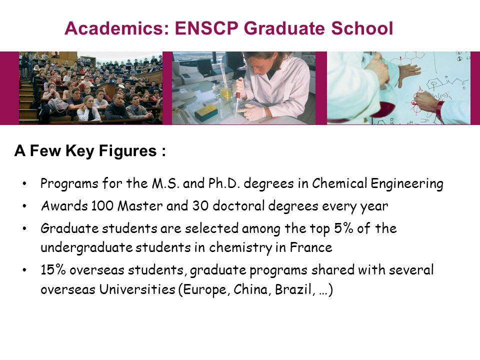 Academics: ENSCP Graduate School