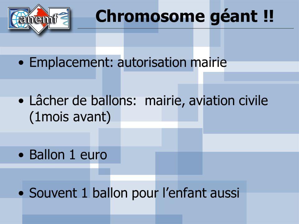Chromosome géant !! Emplacement: autorisation mairie