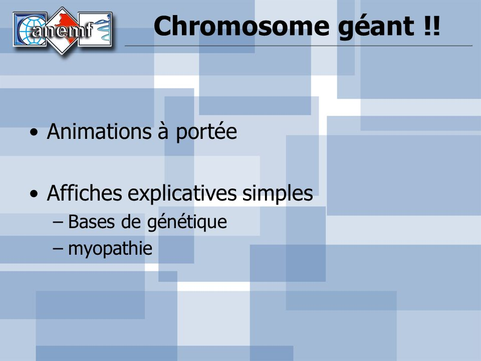 Chromosome géant !! Animations à portée Affiches explicatives simples