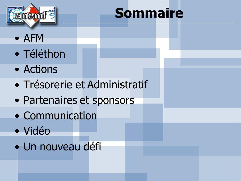 Sommaire AFM Téléthon Actions Trésorerie et Administratif