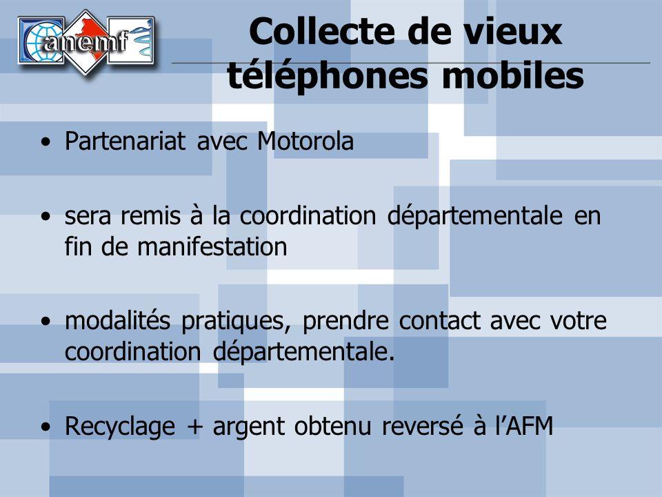 Collecte de vieux téléphones mobiles
