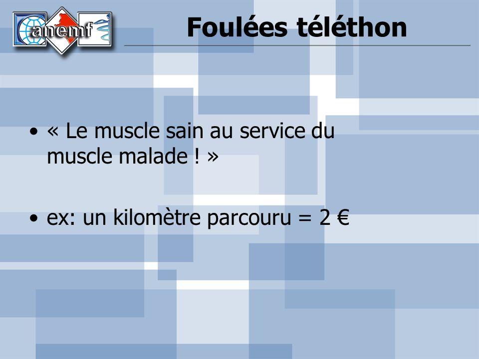 Foulées téléthon « Le muscle sain au service du muscle malade ! »