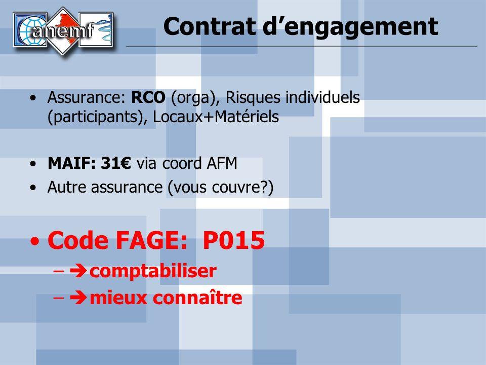 Contrat d'engagement Code FAGE: P015 comptabiliser mieux connaître