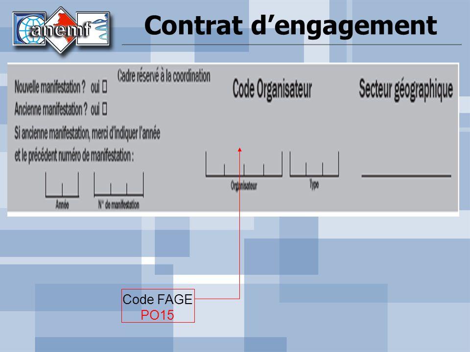 Contrat d'engagement Code FAGE PO15