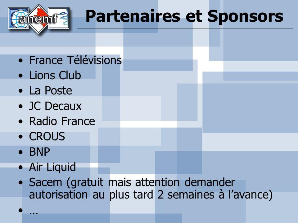 Partenaires et Sponsors
