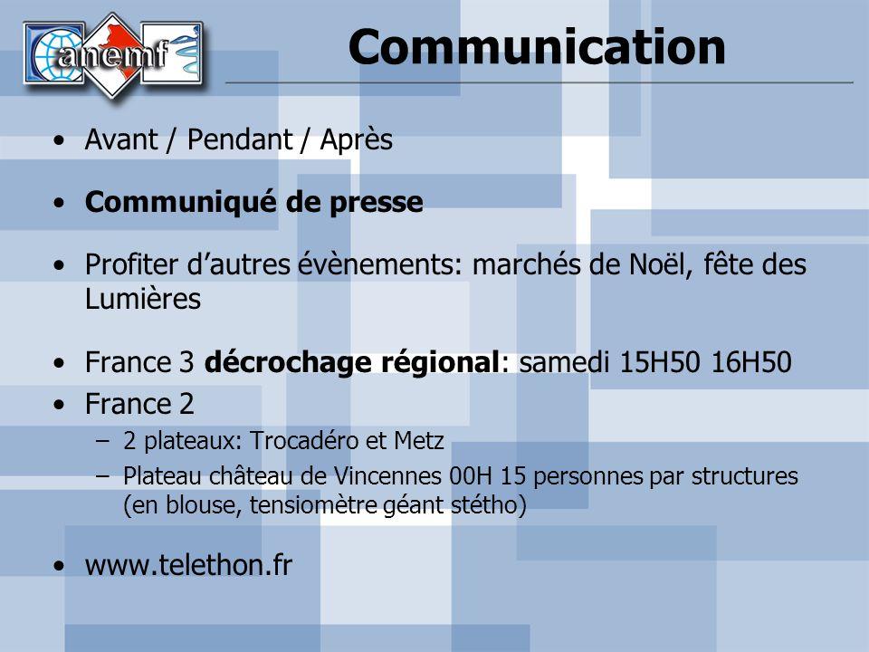 Communication Avant / Pendant / Après Communiqué de presse