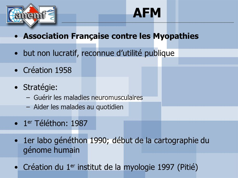 AFM Association Française contre les Myopathies