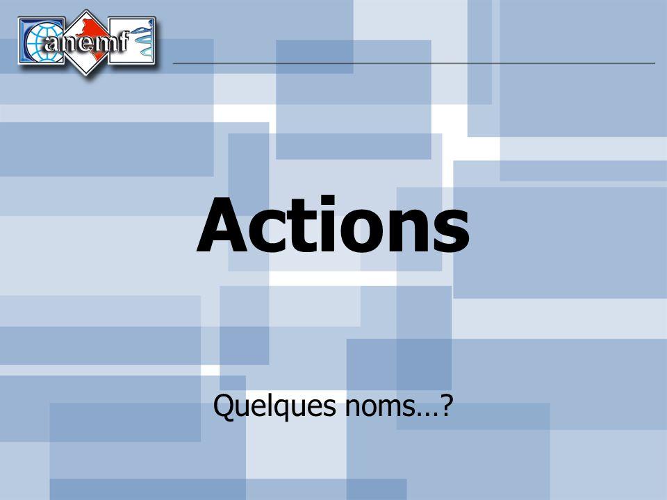 Actions Quelques noms…