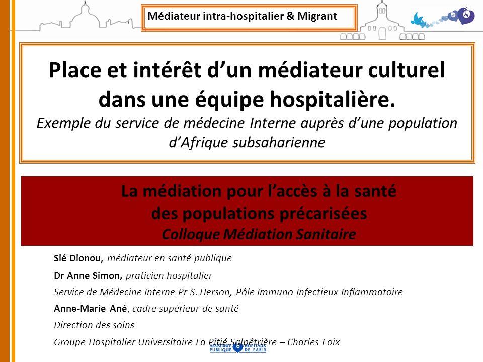 Médiateur intra-hospitalier & Migrant