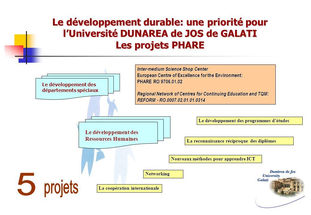 Le développement durable: une priorité pour l'Université DUNAREA de JOS de GALATI