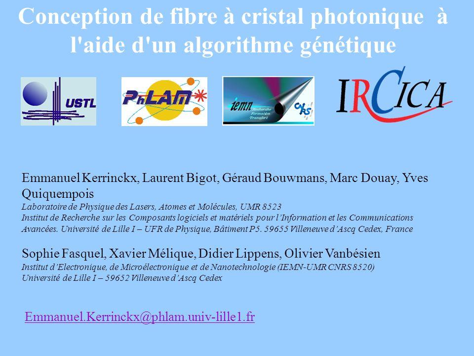 Conception de fibre à cristal photonique à l aide d un algorithme génétique
