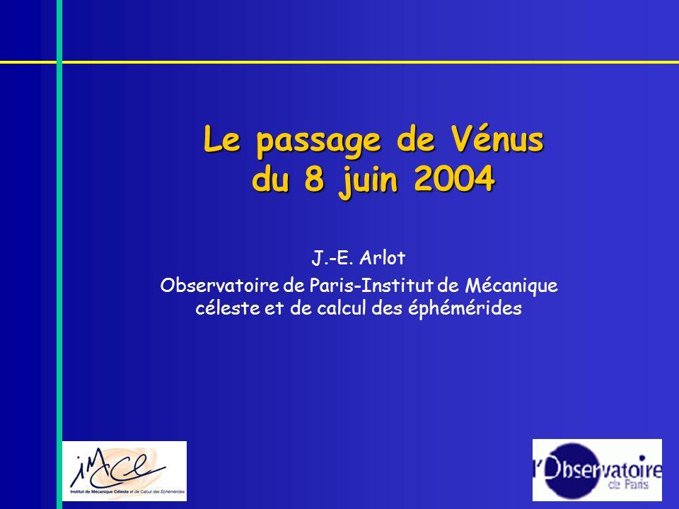 Le passage de Vénus du 8 juin 2004