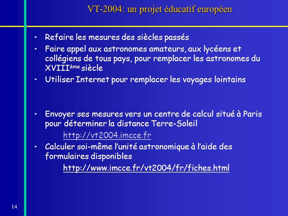 VT-2004: un projet éducatif européen