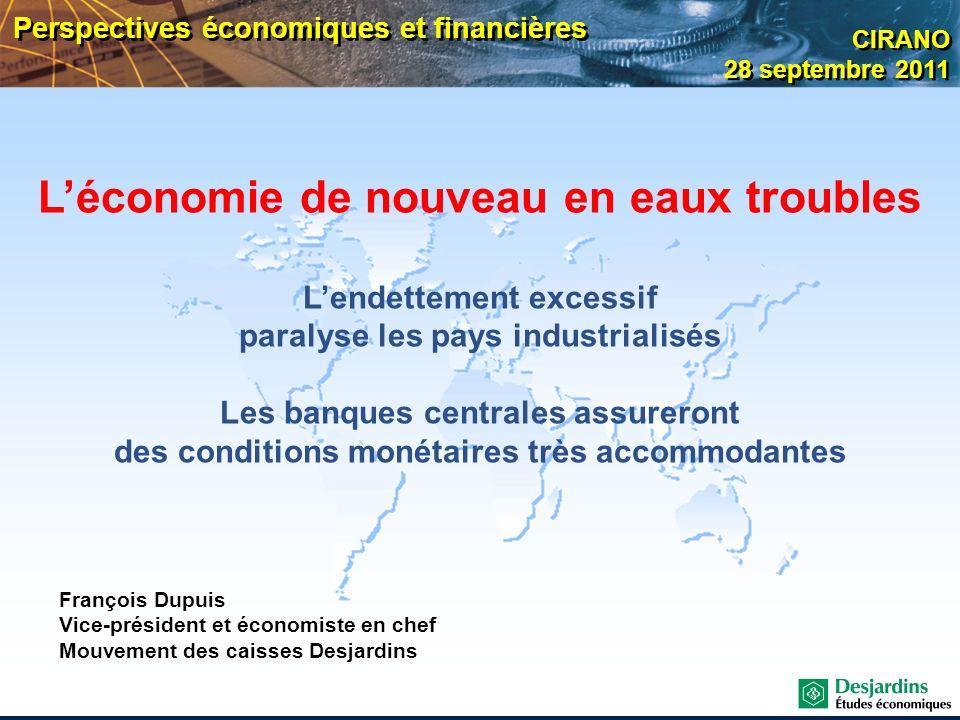 L'économie de nouveau en eaux troubles