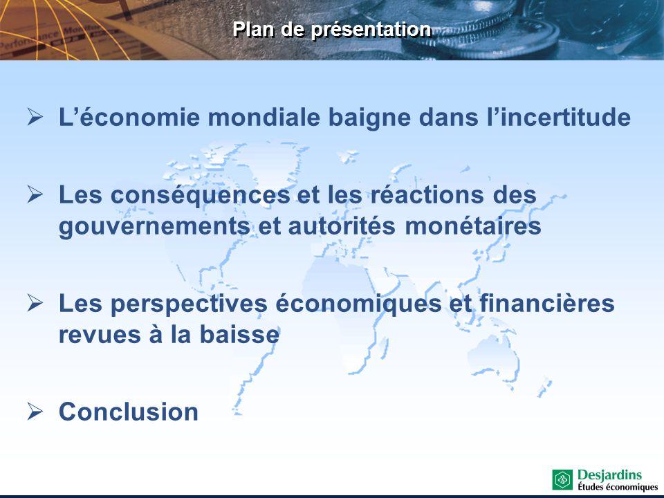 L'économie mondiale baigne dans l'incertitude