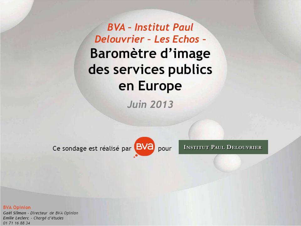 Baromètre d'image des services publics en Europe