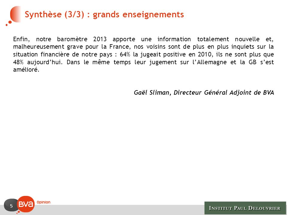 Synthèse (3/3) : grands enseignements