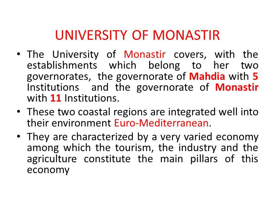 UNIVERSITY OF MONASTIR
